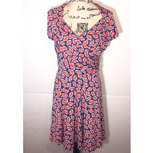 Leota Queen Anne Ruched Dress